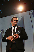 LONDON, ENGLAND - NOVEMBER 01:  Richie Mccaw of New Zealand receives the World Rugby Team of the Year award during the World Rugby Awards 2015 at Battersea Evolution on November 1, 2015 in London, England.  (Photo: World Rugby)