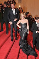 Will Arnett and Amy Poehler at the 'Schiaparelli And Prada: Impossible Conversations' Costume Institute Gala at the Metropolitan Museum of Art on May 7, 2012 in New York City. ©mpi03/MediaPunch Inc.