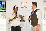 Thongchai Jaidee of Thailand visits the UBS Pavilion during the 58th UBS Hong Kong Golf Open as part of the European Tour on 08 December 2016, at the Hong Kong Golf Club, Fanling, Hong Kong, China. Photo by Vivek Prakash / Power Sport Images