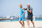 (L-R) Takasuke Goto,   Marcelo Mendes (JPN),<br /> APRIL 20, 2014 - Beach Soccer :<br /> Beach Soccer Japan national team candidates training camp in Okinawa, Japan. (Photo by Wataru Kohayakawa/AFLO)