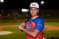 Kevin Sanchez during the Under Armour All-America Tournament powered by Baseball Factory on January 17, 2020 at Sloan Park in Mesa, Arizona.  (Zachary Lucy/Four Seam Images)