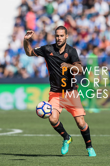 Mario Suarez of Valencia CF in action during their La Liga match between Club Deportivo Leganes and Valencia CF at the Butarque Municipal Stadium on 25 September 2016 in Madrid, Spain. Photo by Diego Gonzalez Souto / Power Sport Images