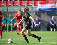 Isa Kardinaal (4) of the Netherlands in action during an international friendly female soccer game between the national teams of Belgium , called the Red Flames U17 and the Netherlands on Wednesday 8th of September 2020  in Kalmthout , Belgium . PHOTO SPORTPIX.BE | SPP | SEVIL OKTEM