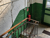 Treppenhaus in der  Speicherstadt, Hamburg, Deutschland, Europa, UNESCO-Weltkulturerbe<br /> Staircase in Speicherstadt, Hamburg, Germany, Europe, UNESCO world heritage