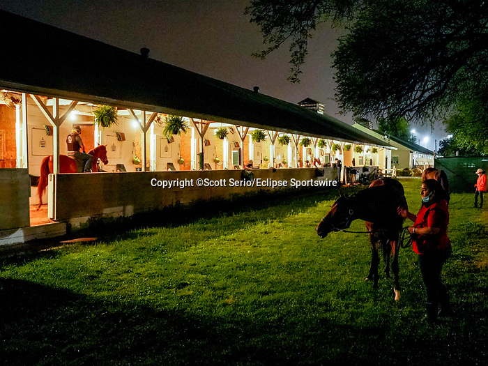 April 29, 2021: Scenes from around the track as horses prepare for the Kentucky Derby and Kentucky Oaks on a muddy track at Churchill Downs. Scott Serio/Eclipse Sportswire/CSM