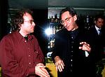 ENRICO GHEZZI CON FRANCO BATTIATO<br /> PRESENTAZIONE LIBRO AL CIAK CLUB ROMA 1996
