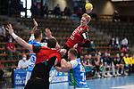 Marian Michalczik (Berlin) beim Wurf beim Spiel in der Handball Bundesliga, Frisch Auf Goeppingen - Fuechse Berlin.<br /> <br /> Foto © PIX-Sportfotos *** Foto ist honorarpflichtig! *** Auf Anfrage in hoeherer Qualitaet/Aufloesung. Belegexemplar erbeten. Veroeffentlichung ausschliesslich fuer journalistisch-publizistische Zwecke. For editorial use only.