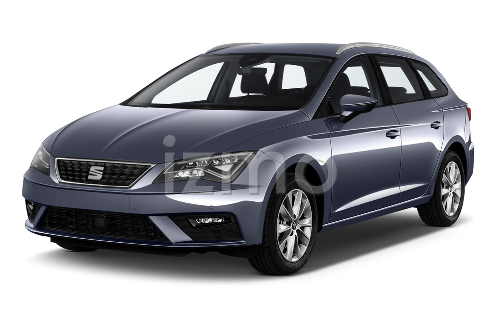 2018 Seat Leon ST Style 5 Door Wagon angular front stock photos of front three quarter view