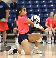 Caylan Koons (1) of Har-Ber bumps ball against Southside on Tuesday, October 12, 2021, during play at Wildcat Arena, Springdale. Visit nwaonline.com/211013Daily/ for today's photo gallery.<br /> (Special to the NWA Democrat-Gazette/David Beach)