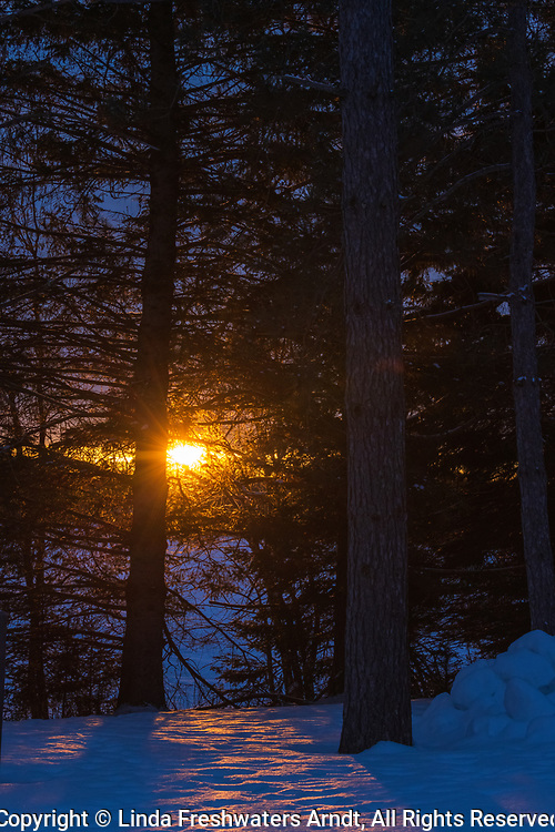 The warmth of the sun on a cold winter morning in northern Wisconsin.