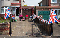 Stella and her husband who celebrated 75 years ago in Welling, Kent, England 8th May 2020. Victory in Europe (VE) 75th Anniversary Celebrations during the UK Lockdown due to the Coronavirus pandemic. Photo by Alan Stanford / PRiME Media Images