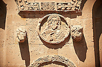 Bas Releif sculptures with scenes from the Bible on the outside of the 10th century Armenian Orthodox Cathedral of the Holy Cross on Akdamar Island, Lake Van Turkey 32
