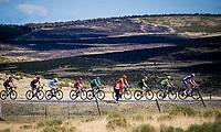 the breakaway group up the Puerto de la Morcuera<br /> <br /> Stage 18: Colmenar Viejo to Becerril de la Sierra (178km)<br /> La Vuelta 2019<br /> <br /> ©kramon
