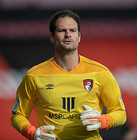 Bournemouth's Asmir Begovic <br /> <br /> Photographer David Horton/CameraSport<br /> <br /> The EFL Sky Bet Championship - Bournemouth v Queens Park Rangers - Saturday 17th October 2020 - Vitality Stadium - Bournemouth<br /> <br /> World Copyright © 2020 CameraSport. All rights reserved. 43 Linden Ave. Countesthorpe. Leicester. England. LE8 5PG - Tel: +44 (0) 116 277 4147 - admin@camerasport.com - www.camerasport.com