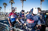 Mathieu Van der Poel (NED/Alpecin-Fenix) & team post-finish<br /> <br /> Stage 6 from Castelraimondo to Lido di Fermo (169km)<br /> <br /> 56th Tirreno-Adriatico 2021 (2.UWT) <br /> <br /> ©kramon