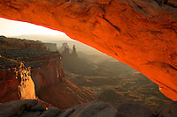 Mesa Arch at sunrise, Island in the Sky Region, Canyonland National Park, near Moab, Utah