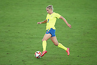 YOKOHAMA, JAPAN - AUGUST 6: Jonna Andersson #2 of Sweden during a game between Canada and Sweden at International Stadium Yokohama on August 6, 2021 in Yokohama, Japan.