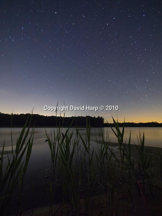 Starry night near the mouth of Raccoon Creek, Choptank River