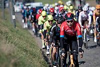 Marcel Sieberg (DEU/Bahrain Victorious) powering over the Holleweg cobbles<br /> <br /> 73rd Kuurne - Brussels - Kuurne 2021<br /> ME (1.Pro)<br /> 1 day race from Kuurne to Kuurne (BEL/197km)<br /> <br /> ©kramon