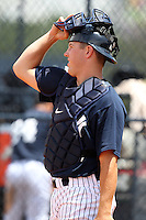 GCL Yankees Tyson Blaser #56 during a game against the GCL Phillies at the New York Yankees Minor League Complex on June 24, 2011 in Tampa, Florida.  The Yankees defeated the Phillies 9-0.  (Mike Janes/Four Seam Images)