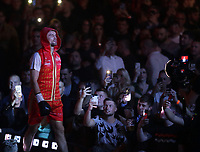 9th October 2021; M&S Bank Arena, Liverpool, England; Matchroom Boxing, Liam Smith versus Anthony Fowler; ANTHONY FOWLER (Liverpool, England) walks to the ring prior to his WBA International Super-Welterweight Title v LIAM SMITH (Liverpool, England)