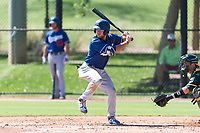 Los Angeles Dodgers outfielder Drew Avans (26) at bat during an Instructional League game against the Oakland Athletics at Camelback Ranch on September 27, 2018 in Glendale, Arizona. (Zachary Lucy/Four Seam Images)