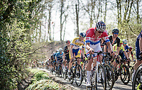 Mathieu Van der Poel (NED/Alpecin-Fenix) up the Trieu (aka 'Knokteberg')<br /> <br /> 76th Dwars door Vlaanderen 2021 (MEN1.UWT)<br /> 1 day race from Roeselare to Waregem (184km)<br /> <br /> ©kramon