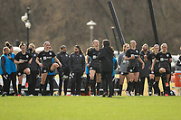 LOUISVILLE, KY - MARCH 13: Racing Louisville FC players keep their muscles warm at the half during a game between West Virginia University and Racing Louisville FC at Thurman Hutchins Park on March 13, 2021 in Louisville, Kentucky.