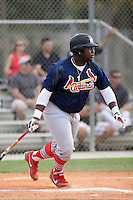 Tyrone Perry, #17 of Avon Park High School, FL for the Cardinals Scout Team / FTB Chandler during the WWBA World Championship 2013 at the Roger Dean Complex on October 25, 2013 in Jupiter, Florida. (Stacy Jo Grant/Four Seam Images)
