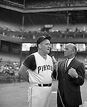 Pittsburgh PA:  Danny Murtaugh, the manager of the Pittsburgh Pirates for 15 seasons.  Lead the Pirates to 2 World Series titles and 4 Eastern division titles.
