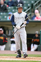May 10, 2009:  Center Fielder Miguel Negron of the Charlotte Knights, Triple-A International League affiliate of the Chicago White Sox, at bat during a game at Frontier Field in Rochester, NY.  Photo by:  Mike Janes/Four Seam Images