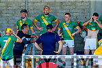 Kilmoyley team during half time of the Kerry County Senior Hurling Championship Final match between Kilmoyley and Causeway at Austin Stack Park in Tralee