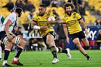 Ngani Laumape of the Hurricanes during the Super Rugby - Hurricanes v Rebels at Sky Stadium, Wellington, New Zealand on Friday 21 May 2021.<br /> Photo by Masanori Udagawa. <br /> www.photowellington.photoshelter.com