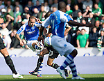 St Johnstone v Celtic....15.09.12      SPL  .Rowan Vine fires home his goal that won the match for Saints.Picture by Graeme Hart..Copyright Perthshire Picture Agency.Tel: 01738 623350  Mobile: 07990 594431