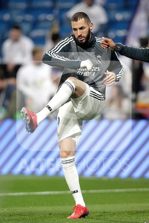 Real Madrid CF's Karim Benzema during La Liga match. February 27,2019. (ALTERPHOTOS/Alconada)