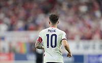 NASHVILLE, TN - SEPTEMBER 5: Christian Pulisic #10 of the United States during a game between Canada and USMNT at Nissan Stadium on September 5, 2021 in Nashville, Tennessee.
