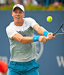 Tomas Berdych of the Czech Republic at the Western & Southern Open in Mason, OH on August 16, 2012.