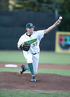 Jon Van Looy of the Jamestown Jammers, Class-A affiliate of the Florida Marlins, during New York-Penn League baseball action.  Photo by Mike Janes/Four Seam Images