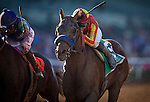 ARCADIA, CA - FEBRUARY 06: Hoppertunity #5, ridden by Flavian Prat wins the San Antonio Stakes at Santa Anita Park on February 06, 2016 in Arcadia, California. (Photo by Alex Evers/Eclipse Sportswire/Getty Images)