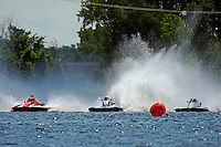 """(L to R): Tom Bergman, A-8, Kevin Kreitzer, A-64 """"Blue Devil"""" and Alexis Weber, A-7 """"Southern Magic""""  (2.5 MOD class hydroplane(s)"""
