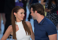 Ina Foden looks lovingly at Ben Foden as they attend The Magic Mike XXL European Film Premiere at Vue, Leicester Square, London, England on 28 June 2015. Photo by Andy Rowland.