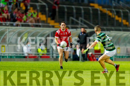 Paudie Clifford, East Kerry in action against Thomas Kerins, St. Brendan's Board during the Kerry County Senior Football Championship Semi-Final match between East Kerry and St Brendan's at Austin Stack Park in Tralee, Kerry.