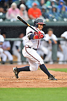 Northern Division right fielder Randy Ventura (11) of the Rome Braves swings at a pitch during the South Atlantic League All Star Game at Spirit Communications Park on June 20, 2017 in Columbia, South Carolina. The game ended in a tie 3-3 after seven innings. (Tony Farlow/Four Seam Images)