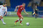 Euro 2012 Qualifying match - Wales v Montenegro at the Cardiff City Stadium..Craig Bellamy of Wales makes a break..