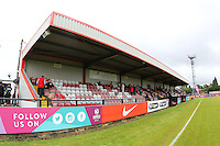 General view of the main stand ahead of Arsenal Ladies vs Notts County Ladies, FA Women's Super League FA WSL1 Football at Meadow Park on 10th July 2016