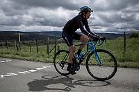 Aude Biannic (FRA/Movistar) up the Col de La Redoute.<br /> <br /> 3th Liège-Bastogne-Liège-Femmes 2019 (1.WWT)<br /> 1 Day Race: Bastogne – Liège 138,5km<br /> <br /> ©kramon