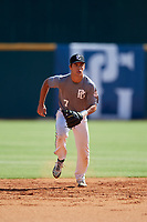 Maxwell Muncy (7) of Thousand Oaks High School in Camarillo, CA during the Perfect Game National Showcase at Hoover Metropolitan Stadium on June 17, 2020 in Hoover, Alabama. (Mike Janes/Four Seam Images)