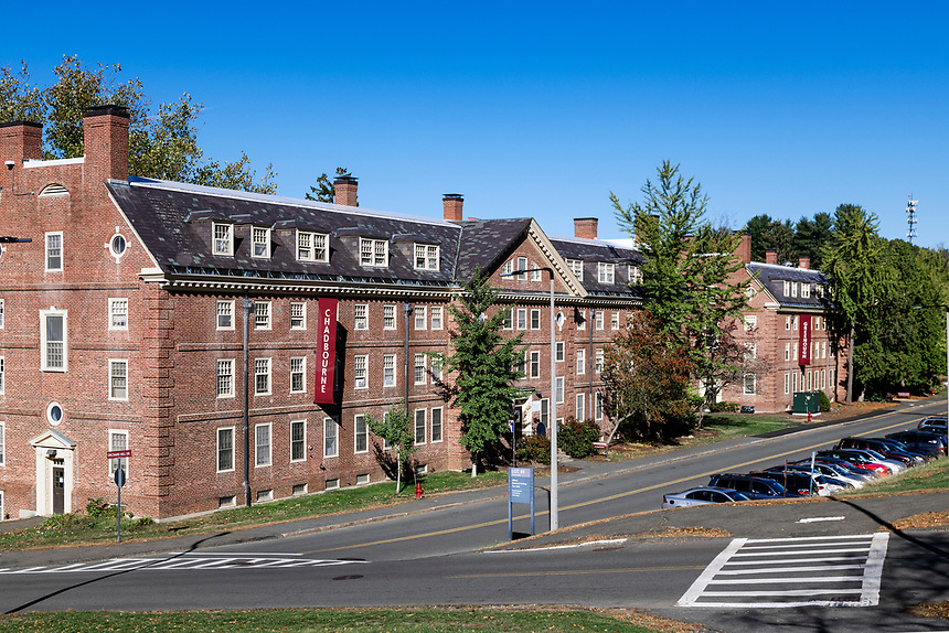 Student dormitory on the University of Massachusetts Amherst campus.