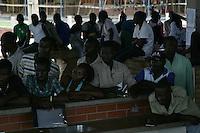 Imigrantes haitianos são enviados de ônibus para o estado de São Paulo, custeado pelo governo do Acre.<br /> Rio Branco, Acre, Brasil.<br /> Foto Odair Leal<br /> 25/04/2014