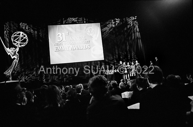 New York, New York<br /> USA<br /> September 27, 2010<br /> <br /> The 31st Annual News and Documentary, Emmy Awards held at Frederick P. Rose Hall, Jazz at Lincoln Center.<br /> <br /> The New York Times team wins an Emmy for New Approaches to News and Documentary Programming Documentaries for a series entitled, One in Eight Million.